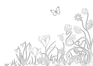 Ausmalbilder Frühling- Frühlingsbasteln