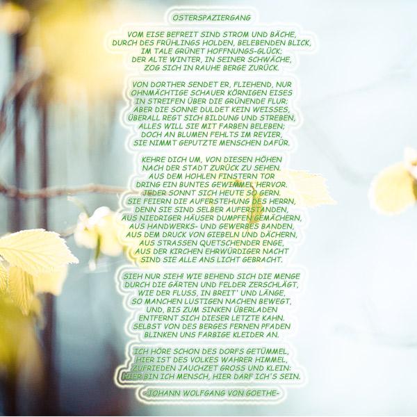 Gedicht Osterspaziergang